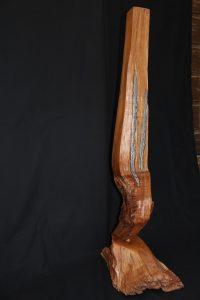 4.2.12b - Kirsche mit Fuß und Zinngus - H 110 cm - B 25 cm